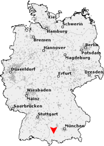 Map of Kaufbeuren