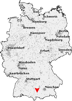 Map of Kaufbeuren